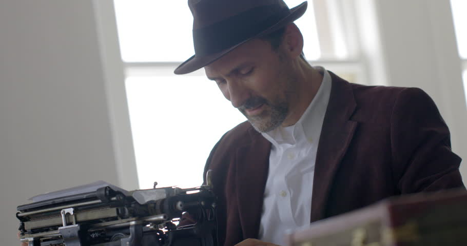 Retro business man or noir stock footage video 100% royalty free