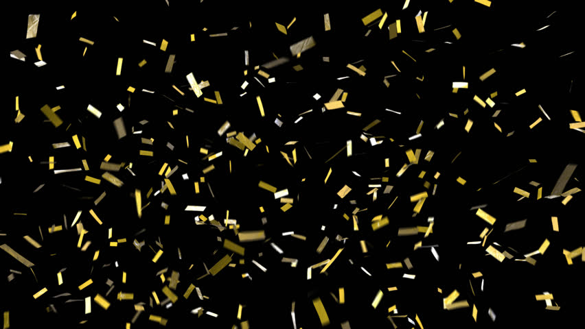 Confetti with alpha channel! Pre-keyed, background is transparent. Loopable. ProRes 4444 with transparency so you can put this confetti over top of anything. Shiny gold confetti fall, clears frame | Shutterstock HD Video #30066067