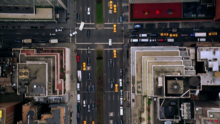 Overhead Aerial Shot of NYC Manhattan Day, New York USA | Shutterstock HD Video #30108958