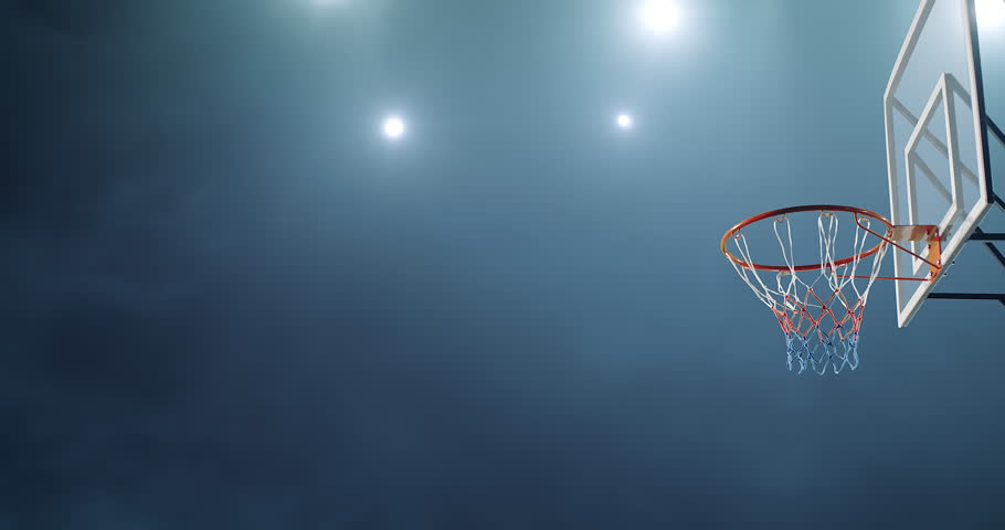 Basketball player makes a slam dunk during a game. He wears unbranded sport clothes. | Shutterstock HD Video #30128833