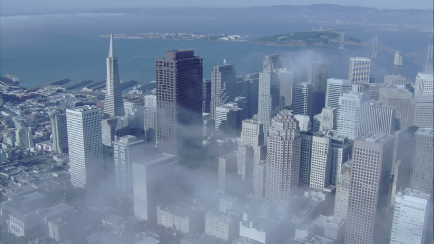 Aerial Shot of Downtown San Francisco Day, San Francisco California USA | Shutterstock HD Video #30143914