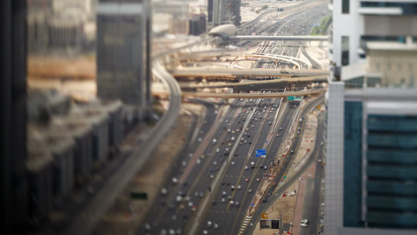 United arab emirates dubai timelapse over sheikh zayed rd showing the new | Shutterstock HD Video #30146758
