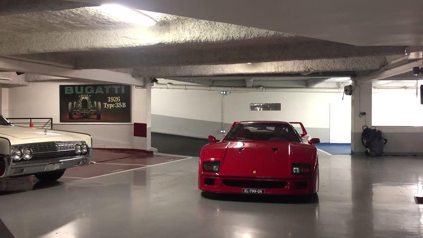 Ferrari F40 Enters the Garage Stock Footage Video (100% Royalty,free)  30242608