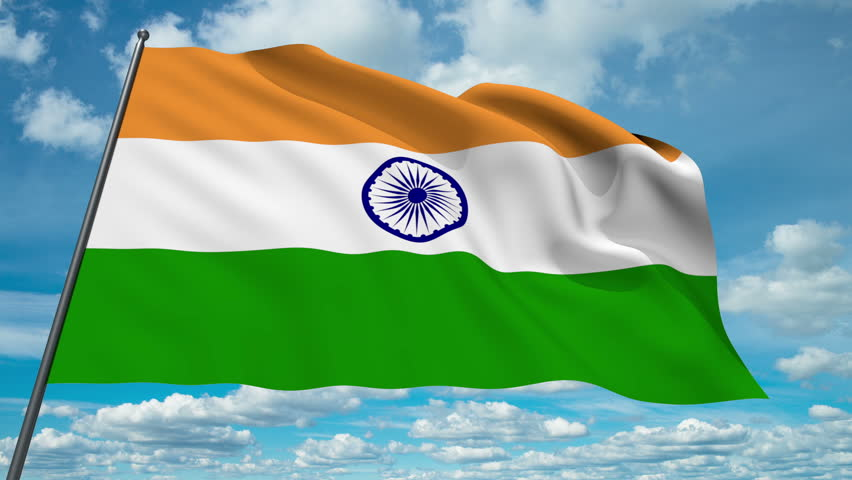 India Flag Hd: India Flag Waving Against Time-lapse Clouds…