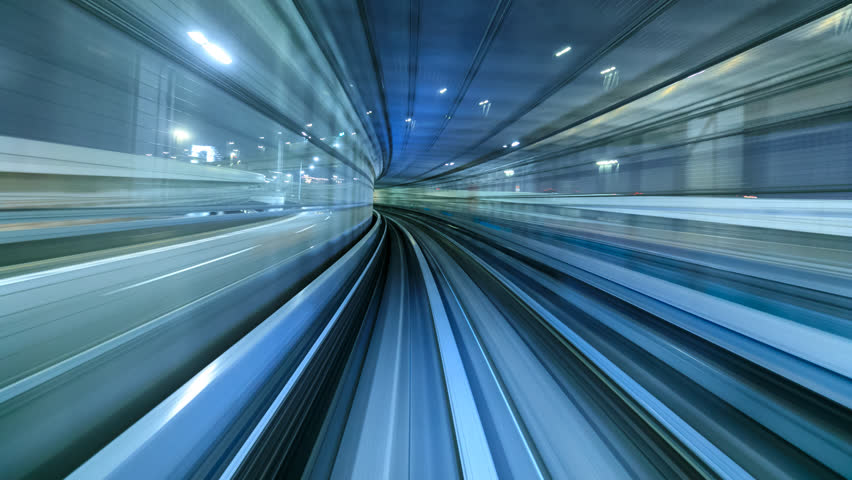 4K Time lapse of automatic train moving to tunnel, Tokyo, Japan    Shutterstock HD Video #30321817