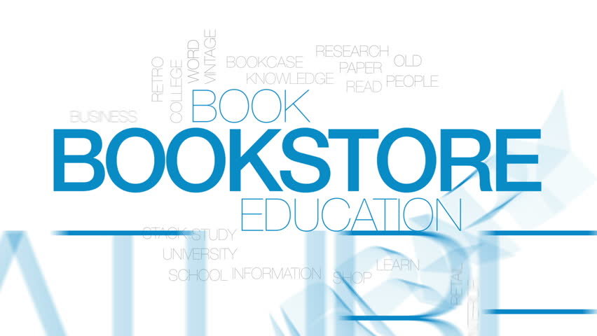 Bookstore animated word cloud, text design animation. Kinetic typography. | Shutterstock HD Video #30372748