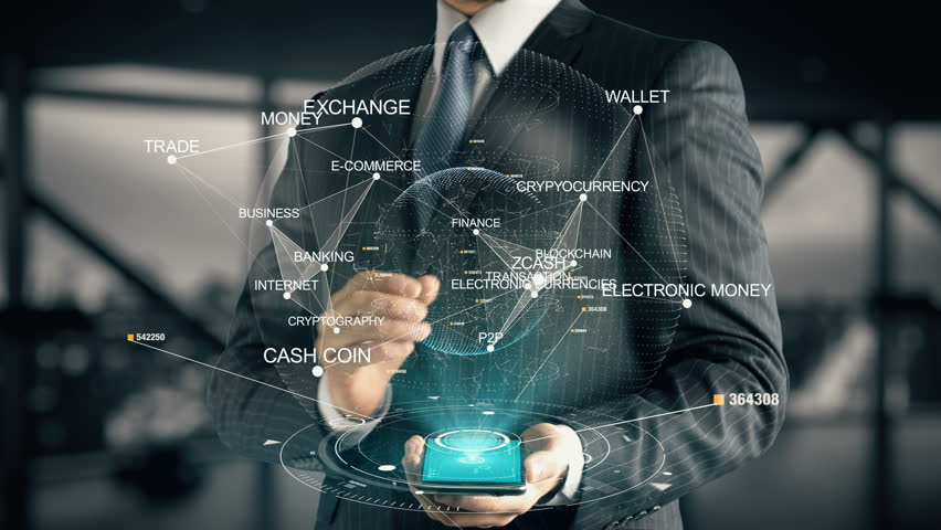 Businessman with Zcash | Shutterstock HD Video #30397750