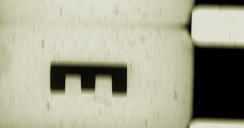 yellow vintage old grunge film strip frame, retro movie glitch effect