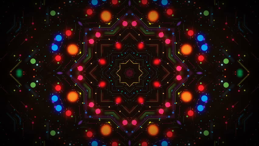 4K Looped Kaleida abstract background for different projects and events.