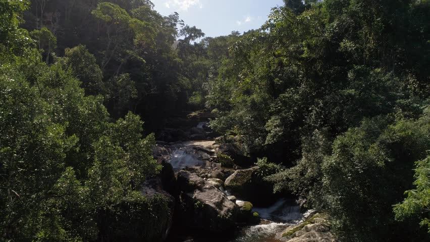Waterfall on Ilhabela, Sao Paulo, Brazil
