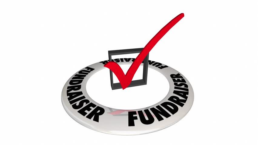Fundraiser Check Box Mark Raise Money Non-Profit 3d Animation
