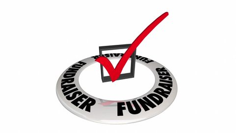 Fundraiser Check Box Mark Raise Money Non-Profit 3d Animation