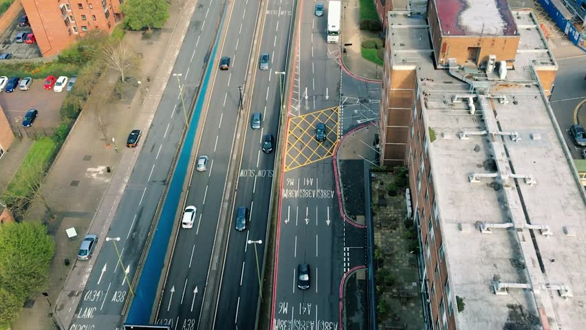 Traffic travels in and out of the heart of Birmingham city centre   Shutterstock HD Video #30506947