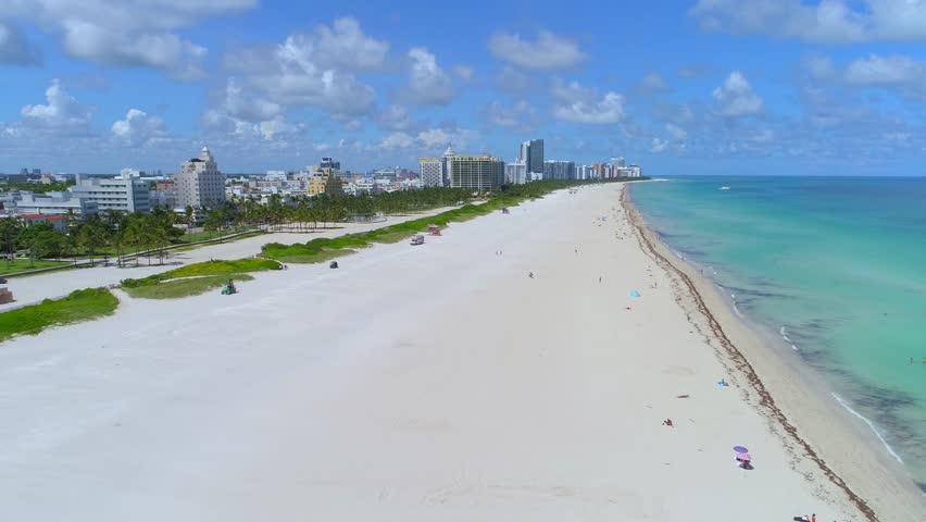 Aerial video Miami Beach hurricane irma mandatory evacuation
