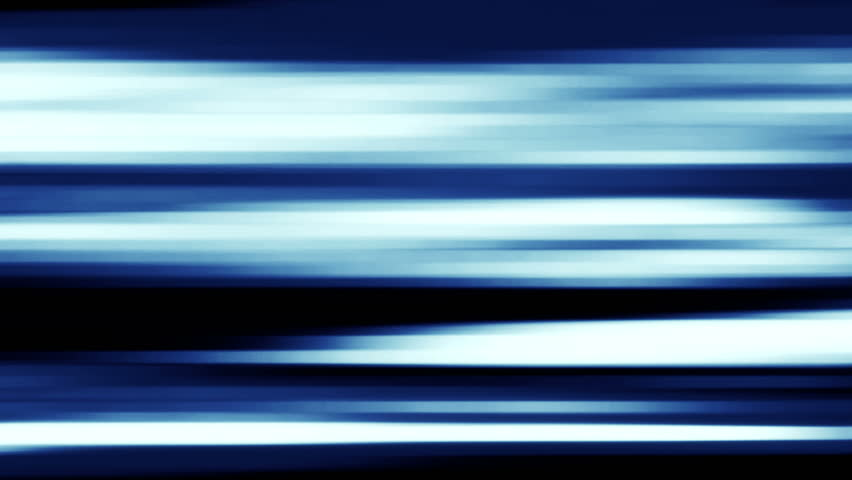 HD - Motion 495: Abstract blue forms streak and blur across the screen (Loop).