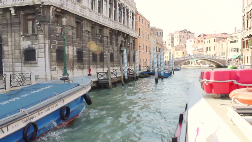 Venice, Italy boat ride along the Grand Canal, shot on Canon EOS 550D camera.
