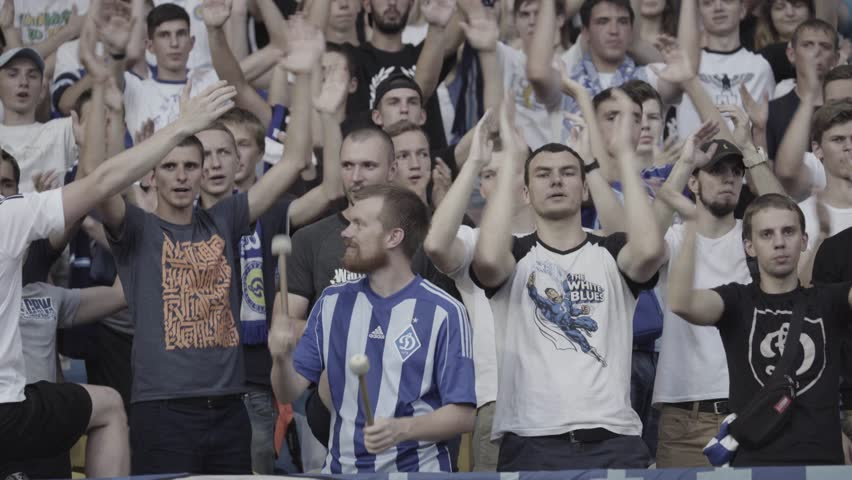 KYIV, UKRAINE - JULY 5, 2017. Fans during the match | Shutterstock HD Video #30633358