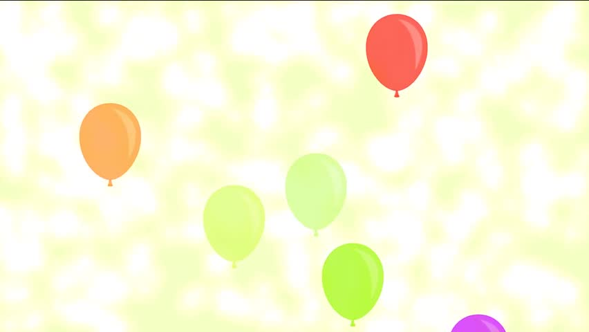Balloons Party Flying Color Animation Floating Up Celebration An Holidays Background Birthday Use For Sites Video