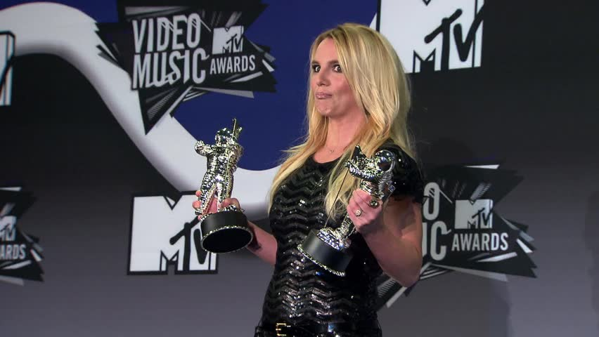 Los Angeles, CA - AUGUST 28, 2011: Britney Spears, walks the red carpet at the MTV Video Music Awards 2011 held at the Nokia Theatre