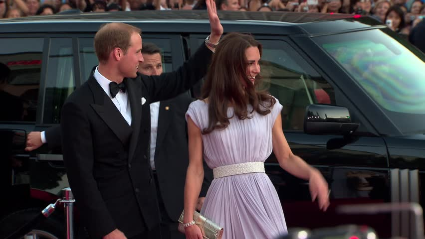 Los Angeles, CA - JULY 09, 2011: Prince William, Kate Middleton, walks the red carpet at the BAFTA Brits to Watch 2011 held at the Belasco Theatre
