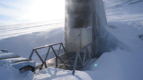 Global seed vault in Longyearbyen. Svalbard, Norway