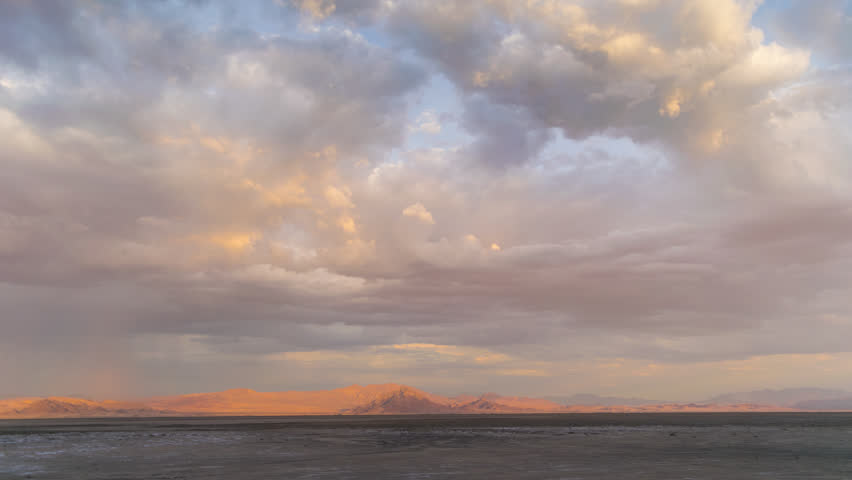 Thunderstorm Mojave Desert with Distant mountains 4K from 6K source | Shutterstock HD Video #30764248