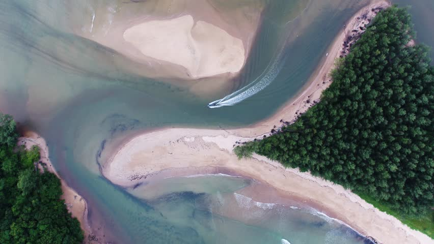 Overhead aerial : Drone shooting of the exotic island of Phuket Thailand, secluded white sandy beach view tropical forest, Pacific ocean | Shutterstock HD Video #30773488
