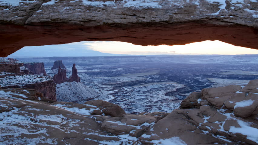 Sunrise at Mesa Arch in Utah's Canyonlands time-lapse