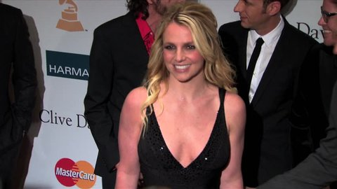 Beverly Hills, CA - FEBRUARY 11, 2012: Britney Spears, walks the red carpet at the Pre-Grammy Gala & Salute To Industry Icons 2012 held at the Beverly Hilton Hotel