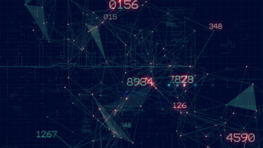 Network / math / numbers / code seamless looping motion background. High quality 3D animation rendered at 16-bit color depth. | Shutterstock HD Video #30825694