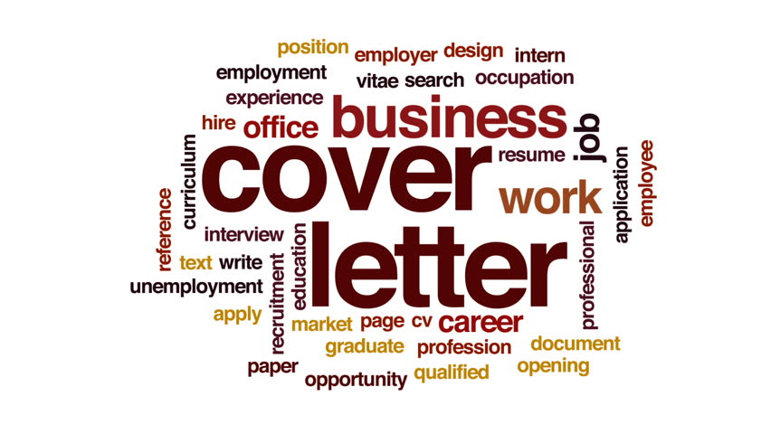 Hd00:15Cover Letter Animated Word Cloud, Text Design Animation.