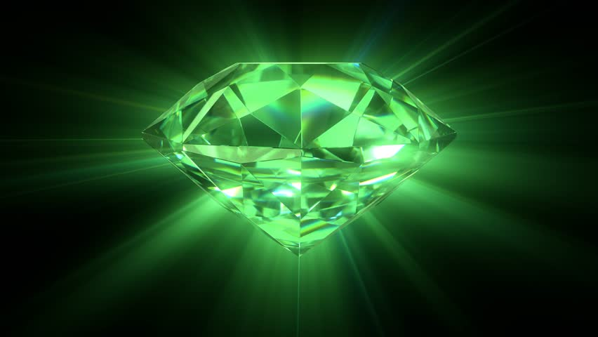Animation Of Slowly Rotation Single Perfect Diamond With