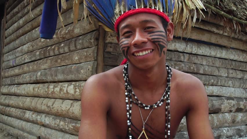 Native Brazilian Man a Indigenous Tribe in Brazil