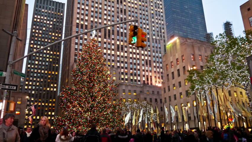 New York Christmas Time.New York November 30 Stock Footage Video 100 Royalty Free 3089218 Shutterstock