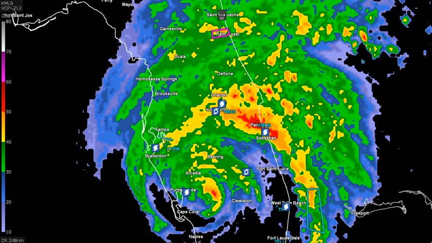 Florida United States September 2017 Hurricane Irma On Doppler