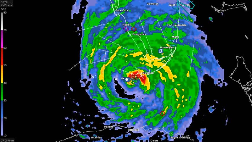 Hurricane Irma On Weather Radar Stock Footage Video 100