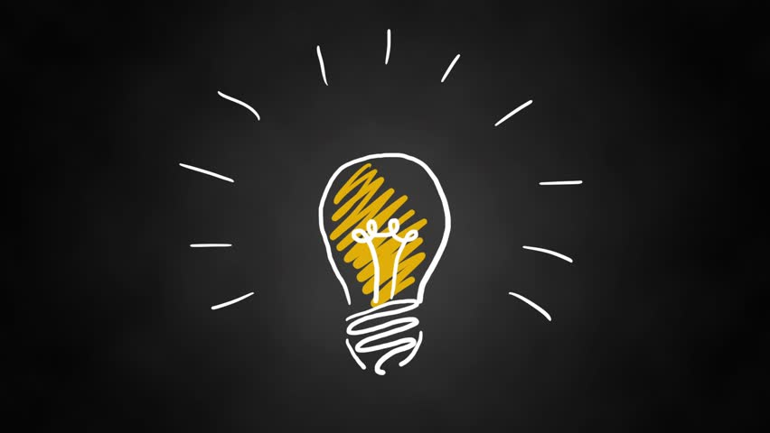 Hand drawn animated light bulb invention or idea concept | Shutterstock HD Video #30949858