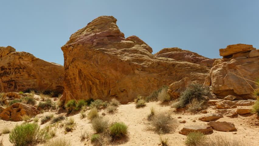 Valley of Fire Sandstone Rock Formation in Nevada Desert | Shutterstock HD Video #30955186