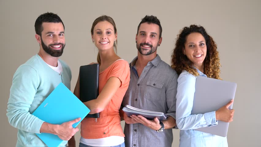 Group of happy business school students    Shutterstock HD Video #30993796