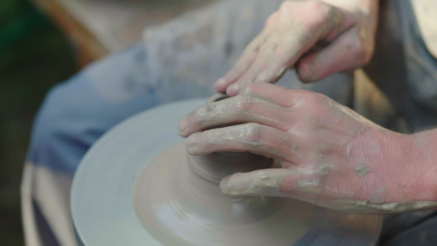 The hands of the master potter, makes a pot of clay. Traditional crafts | Shutterstock HD Video #30994357