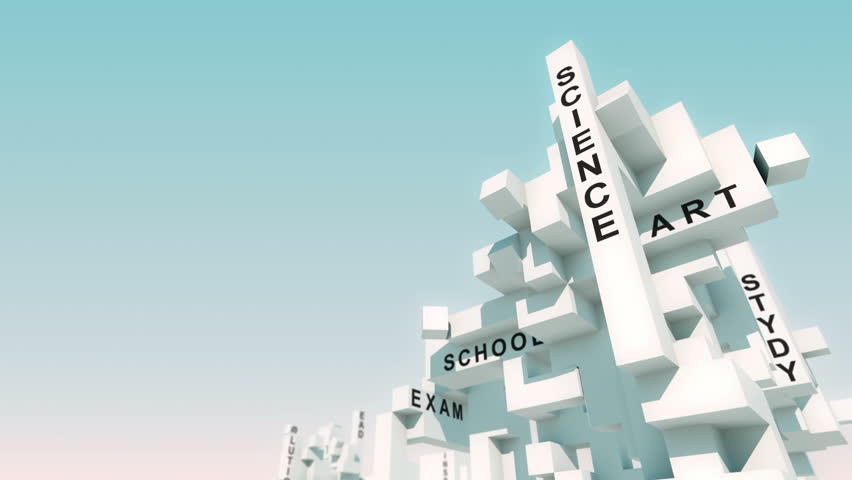 Stem words animated with cubes   Shutterstock HD Video #31018711