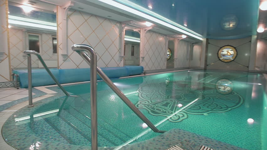 Interior of wellness and Spa swimming pool.Hotel pool. Swimming ...
