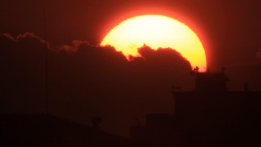 Downtown bright sunrise