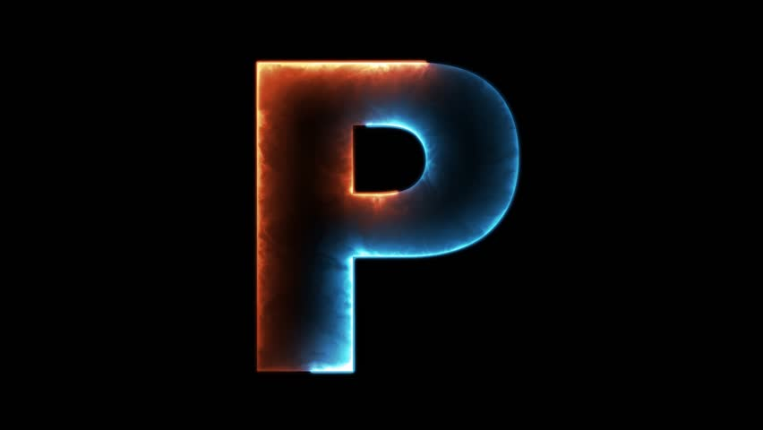 Alphabet letter P - outline in two colors looping on black background in 4k | Shutterstock HD Video #31104658