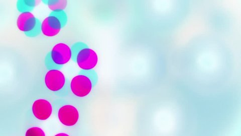 Colorful Circles Video Background Loop, Glassy circular shapes perform a colorful dance. Motion background that is just perfectly for screen saver, events, clubs and lounges.