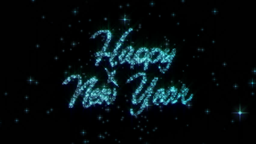 9bc92136f7f4e Happy new year.Good for large street screens and TV displays .Stars blast  in New years Eve. PNG alpha channel.Make your Christmas Card and New Year  Eve ...