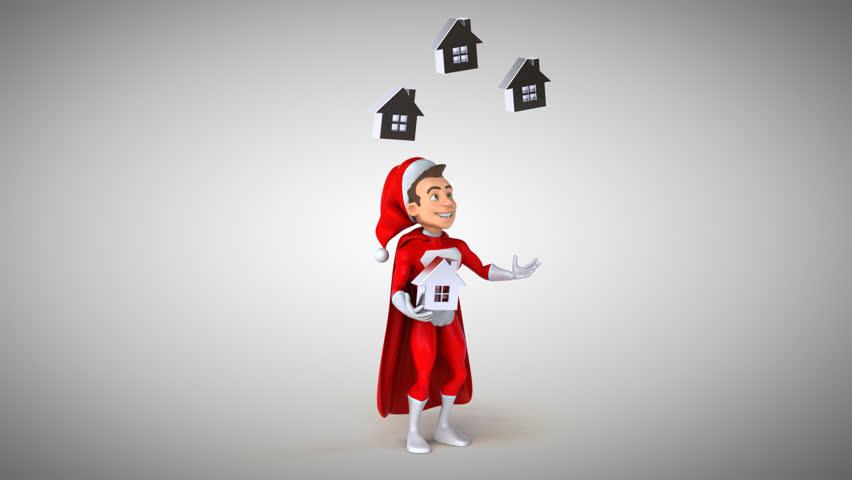 Super Santa Claus - 3D Animation   Shutterstock HD Video #31187818