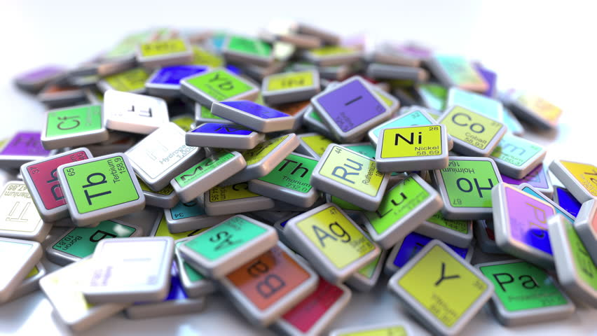 nickel ni block on the pile of periodic table of the chemical elements blocks chemistry - Periodic Table Name Plate