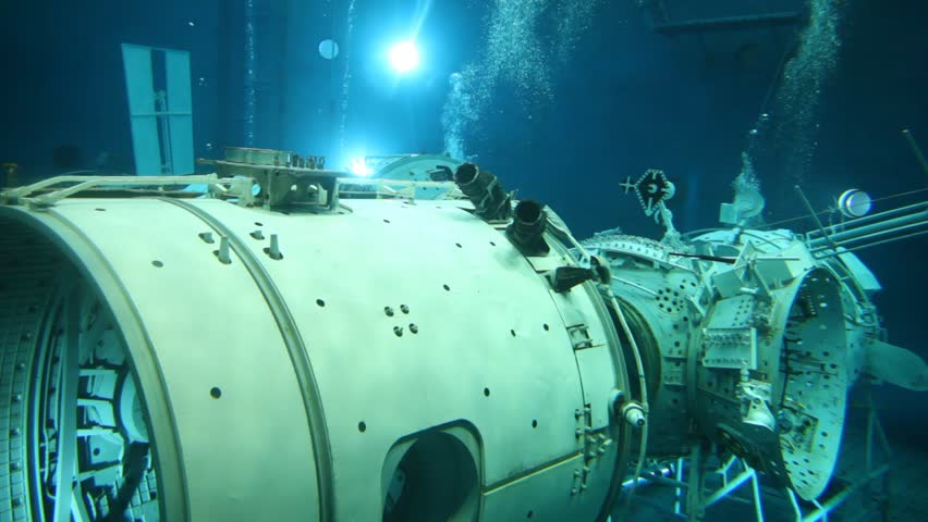 STAR TOWN - FEBRUARY 4: Underwater view of the space simulator, on Feb 4, 2012 in Star Town near Moscow, Russia. The center was established in 1960