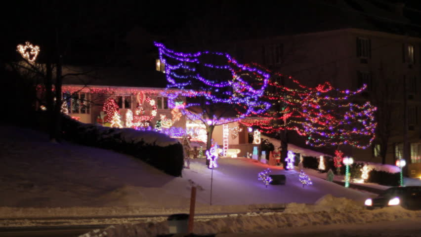 Pictures Of Houses Decorated For Christmas canadian houses decorated with colourful christmas lights for the